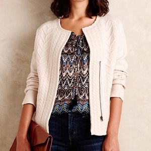Anth Knitted and Knotted Cream Ivory Blazer XXS